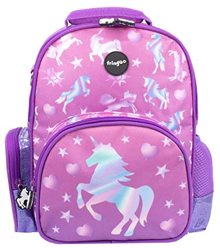 FRINGOO Kids Backpack Water Resistant School Bag for Girls & Boys Age 2-7 Nursery Preschool Travel Bag Children Rucksack (Unicorn Ombre)
