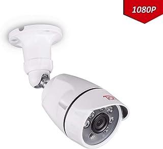 Tonton CCTV Full HD 1080P - Cámara de videovigilancia Exterior Impermeable para TVI/AHD//Grabadora DVR 5 en 1 DVR visión Nocturna de 20 m Carcasa de Metal Rango de detección Personalizado