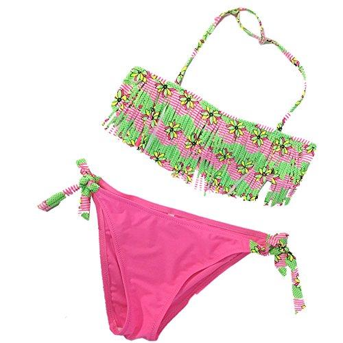 Kidslove [Bikini mädchen] Bikini mädchen 2tlg Neckholder Quaste Bikini Tankini Set mädchen Schwimmanzug Kinder Badeanzug mädchen Bademode