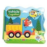 Livre en EVA Lavable Jouet de Bain pour Bébé Livre D'éveil Enfant Apprentissage Livre de Découvertes Cadeaux pour Naissance Garçon Fille(vehicle)