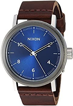 Nixon Men's Stark Leather Japanese Quartz Watch