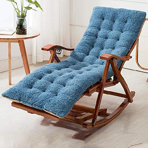 silla Verano Ocio Tumbona Mecedora Vapor Reclinable Relajante Transpirable Cómodo Almohadilla De Algodón Suave para Camping Jardín Almuerzo Interior, 99 X 23 X 64 Cm