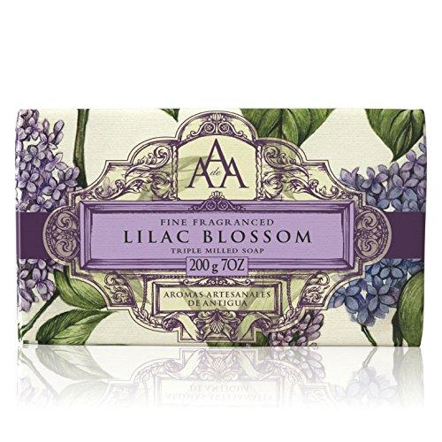 Aromas Artesanales De Antigua Floral Lilac Blossom Triple Milled Soap 200g