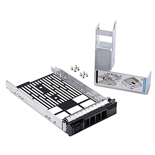 mveohos 3.5 SAS/SATA Hard Drive Tray Caddy with 2.5 HDD Adapter SSD SAS SATA Bracket for Dell Poweredge R320, R420, R720, T320, T420, T620 Servers F238F with Screws