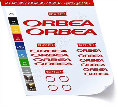Adesivi Bici ORBEA_Kit 1_ Kit Adesivi Stickers 16 Pezzi -Scegli SUBITO Colore- Bike Cycle pegatina cod.0466 (Rosso cod. 031)