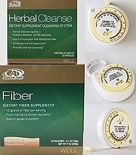 Advocare Herbal Cleanse & Peach & Cream Fiber Kit + BMI Calculator.>Herbal Cleanse 20 Capsules & Fiber 10 Pouches