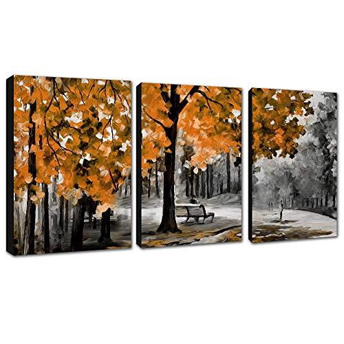 FajerminArt 3 Paneles de Lienzo Abstracto Moderno, Pintura Decorativa, Arte Adecuado para...