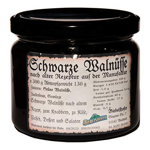Schwarze Walnüsse, Schwarze Nüsse 300 g - Eine alte deutsche Spezialität