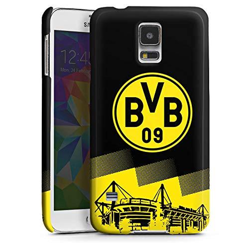 DeinDesign Premium Case kompatibel mit Samsung Galaxy S5 Neo Smartphone Handyhülle Hülle glänzend BVB Borussia Dortmund Stadion