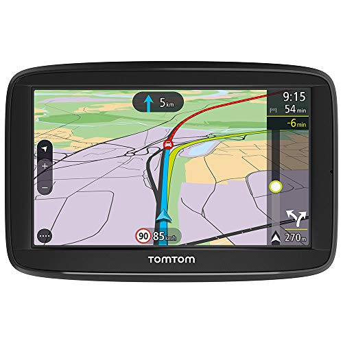 TomTom  Car Sat Nav VIA 52, 5 Inch with Handsfree Calling, Lifetime Traffic via Smartphone and EU Maps, Resistive Screen
