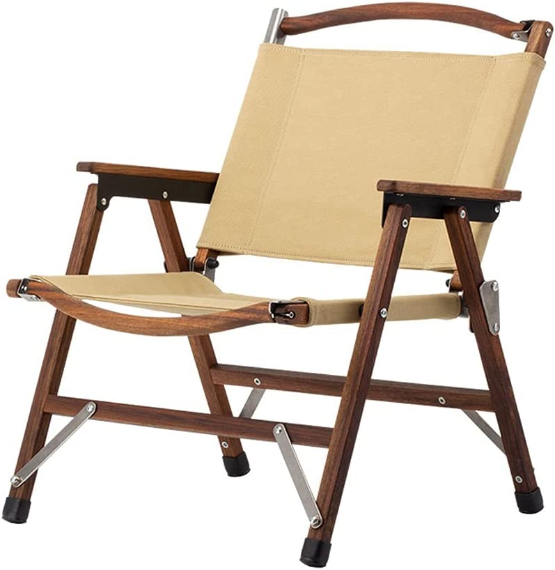 QIAOLI Camping A surprise price is realized online shop Chair -Outdoor Port Canvas and Wood