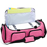 Luxja Bag for Cricut Explore Air (Air2) and Maker, Carrying Case for Cricut Die-Cut Machine and Accessories (Bag Only), Pink