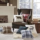 Woolrich Bear Square Berber Pillow White 18x18