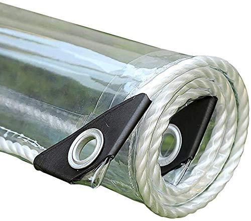 Persenning Transparente wasserdichte Faltbare Bodenbelag, Reißfestes Kunststoff-Folie for Balkon/Camping/Dach wasserdichte transparente (Color : 0.35mm, Size : 1×1m)