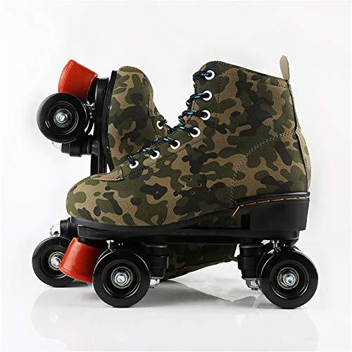 HHORD Skates Verstellbare Rollschuhe Für Mädchen Und Jungen - Pop Roller Series-Roller Skates-Vier-Rad-Tarnung Skates,39