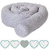 mimaDu Bettschlange, Bettrolle (210 x 10cm) Bettumrandung für Babybett - weich und kuschelig -...