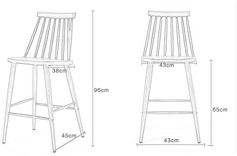 YJXJJD Creative Bar Chair, Bar Chair Bar Chair Dining Chair Cafe High Bar Bar Chair Height 65cm (color   E)
