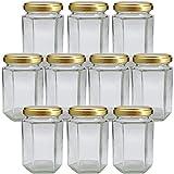 ジャム瓶 S150-6角ST 150ml -10本セット- ((ふた)金53RTS-D)