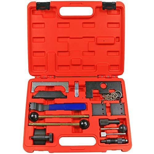 Highking Tool 14pc Timing Tool Kit Camshaft Pinion Lock Compatible for Audi SEAT Skoda Volkswagen Engine Timing Tool