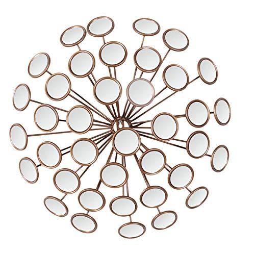 Adeco Mirror Decoration & Housewarming Gift Home Wall Decor, Metal