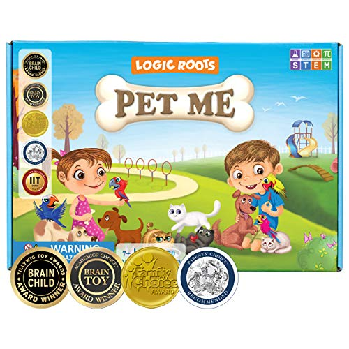 Logic Roots Pet Me Multiplication and Division Game - Fun Math Board Game...