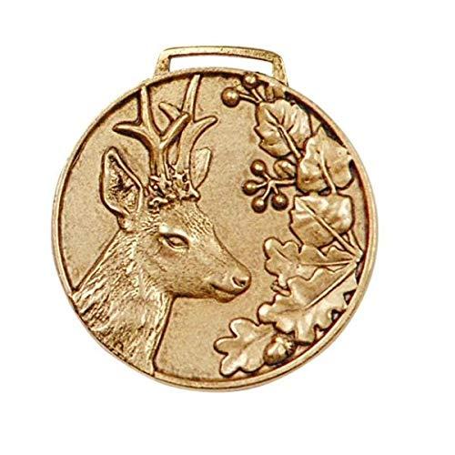 Hi-Life Living Nature Medalla Trofeo de Corzo Oro. Decoracin Trofeo. Cazador. 2677011