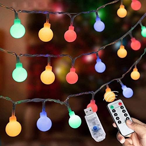 LEDストリングライト ガーランド 5M 50個LED 電飾 フェアリーライト 装飾ライト クリスマスツリー ライト 防雨型