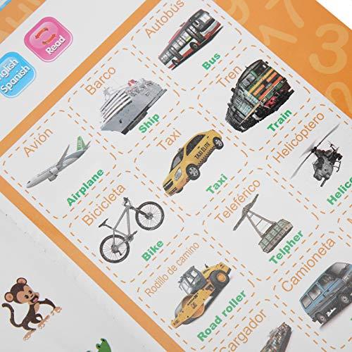 Leerboek, hoorbaar elektronisch boek, elektronische kinderen voor het lezen van kinderen(geel)