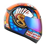 1STORM MOTORCYCLE BIKE FULL FACE HELMET BOOSTER IRON MAN RED
