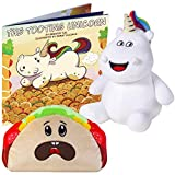 SPARKLE TOOTS The Tooting Unicorn Book Box Set - Includes 8' Talking Unicorn Plush, Exclusive Talking Taco Plush & The Tooting Unicorn (Paperback) - Unique Gag Gift, Funny for All Ages