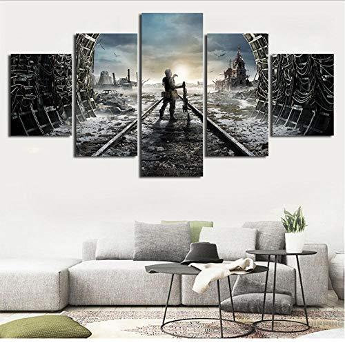 Dianer Metro Schilderen Muur Art 5 Panelen Game Pictures Canvas Poster Home Decor Voor Bedzijde Achtergrond Prints 30x40cmx2/30x60cmx2/30x80cmx1