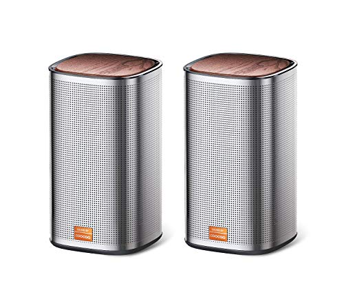COOCAA Play2S Wired Computer Speakers, 2.0 Channel USB Powered Speakers with Enhanced Stereo Bass and Easy-Access Volume Control, Bluetooth 5.0 Desktop Speakers for PC Laptop and Phones