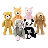 Oitscute 6-Pack Plush Animal Soft Stuffed Toy Set for Girl Baby Kid,11 Inch Doll