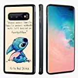 VONDER Lilo and Stitch Anti-Skid with Aluminum Metal Soft TPU Phone Cases for Samsung Galaxy S10 Plus S10+
