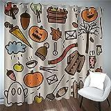 Cortinas De Halloween Para El Hogar Simples 3D Patrón De...