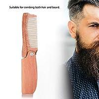 耐久性のある滑らかな軽量のひげの櫛、折りたたみ帯電防止男性用櫛、髪をとかすため、ひげの父、友人のギフト