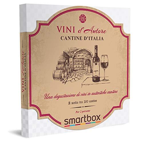 smartbox - Cofanetto Regalo Coppia - Cantine d'Italia - Idee Regalo Originale - Interessanti degustazioni di Vini e Prodotti tipici per 2 in selezionate Cantine Italiane