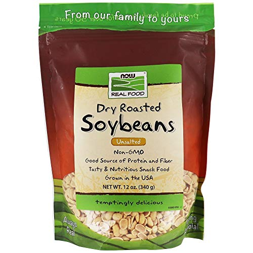 NOW FOODS Soybeans Unsalted Non-GMO 12 OZ