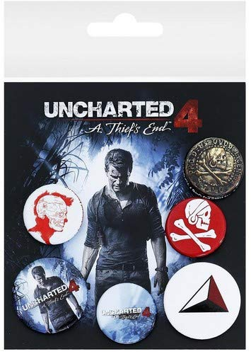 GB Eye, Uncharted 4, Mix, Set de Boutons,