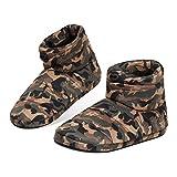 Dunlop Zapatillas Casa Hombre, Pantuflas Hombre Altas para Casa, Zapatillas Hombre Bota para Interior Exterior, Regalos para Hombres y Adolescentes Talla 41-46 (Verde Caqui, Numeric_44)