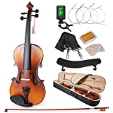 ammoon 4/4 Violin Matte Acoustic Fiddle White Pine Topboard Maple Backboard Sideboard Mahogany