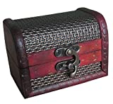 niceEshop(TM) Brown Retro Old Stye Wooden Jewelry Box Case for Women