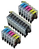 20 Multipack de alta capacidad Brother LC1240 , LC1280 Cartuchos Compatibles 8 negro, 4 ciano, 4 magenta, 4 amarillo para Brother DCP-J525W, DCP-J725DW, DCP-J925DW, MFC-J430W, MFC-J5910DW, MFC-J625DW, MFC-J6510DW, MFC-J6710DW, MFC-J6910DW, MFC-J825DW. Cartucho de tinta . LC-1240BK , LC-1240C , LC-1240M , LC-1240Y © 123 Cartucho