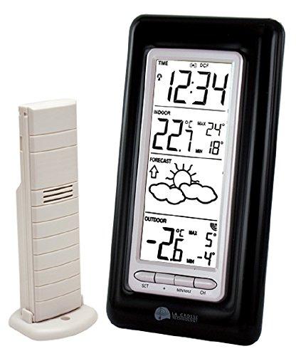 La Crosse Technology WS9132 station météo avec températures Intérieur/Extérieur - Noir