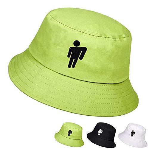 Lanly - Sombrero de Pescador Unisex, Unisex, de algodón, Plegable, Moderno, con protección UV