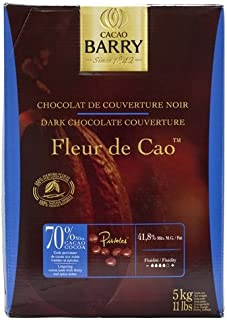 Cacao Barry Dark Chocolate - 70% Cacao - Fleur de Cao - 11 lb box of pistoles