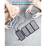 Solar Charger 26800mAh,Solar Power Bank with 4 Solar Panels, Flashlight, Dual 5V/2.1A USB Ports External Battery…