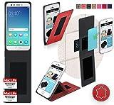 reboon Hülle für Oppo F3 Plus Tasche Cover Case Bumper   Rot Leder   Testsieger