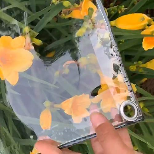 WJN Lonas Impermeable Lona Transparente Resistente, Lona Impermeable Exterior De PVC con Ojal, Cubierta Gruesa para Plantas De Pérgola para Terraza, 400 G / 650 G(Color:0.3mm,Size:1.4×3m)