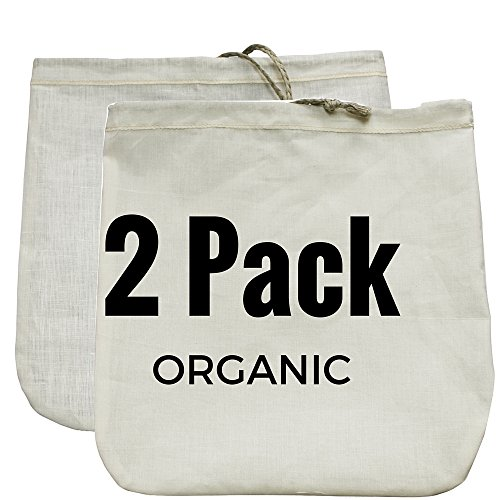 Nut Milk Bag 2 Pack! Commercial Quality & Reusable - 12'x12' - Hemp...